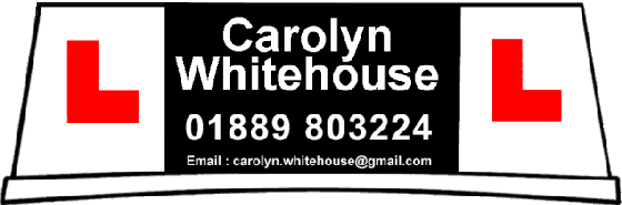 Carolyn Whitehouse, female driving instructor in Rugeley, Cannock & Lichfield areas. Please email carolyn.whitehouse@gmail.com or call 01889 803224 for details